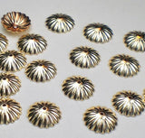 9mm Scalloped 14k Gold Filled Bead Caps 10 pcs. GF-123