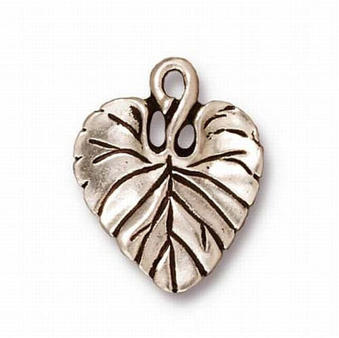 Violet Leaf Charms 18.5mm Large Leaf Drop TierraCast Copper or Fine Silver Finish 4 pcs. 94-2011
