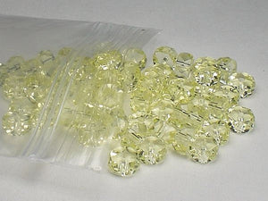 3x6 Czech Crystal Rondelle Beads Faceted LIGHT JONQUIL Spacer Bead Jablonex Preciosa 60 pcs. - Royal Metals Jewelry Supply