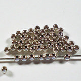 Round Seamless Beads 2mm Sterling Silver 50 pcs S107