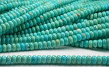 6mm Natural Turquoise Beads Rondelle Beads Soft Blue Green Half Strand - Royal Metals Jewelry Supply