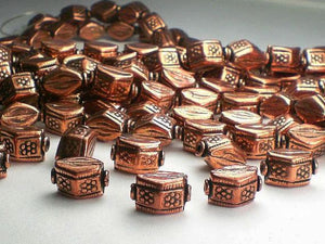 13mm Genuine Copper Hexagon Beads Copper Beads 10 pcs. GC-294 - Royal Metals Jewelry Supply