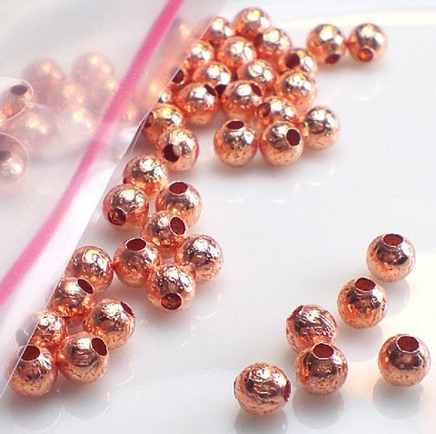 10 Copper Beads 12.5mm Elongated Copper Spacer Beads GC-367