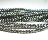 4mm Pyrite Round Faceted Beads 50 pcs. - Royal Metals Jewelry Supply