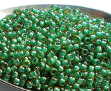 Green TOHO Round 8/0 Japanese Seed Beads Green Mint Lined 15 grams T168-8