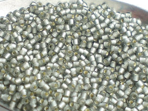 Black Diamond Silver Lined FROSTED TOHO Round 11/0 Japanese Seed Beads Gray Frosted 15 grams T320-11