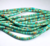 4mm Genuine Turquoise Heishi Beads Blue Green Turquoise Beads - Royal Metals Jewelry Supply