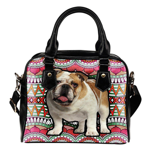 Image of french bulldog  leather bag