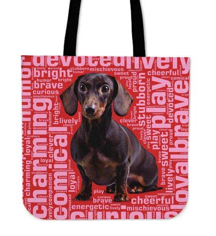 Image of Blue Dachshund Tote