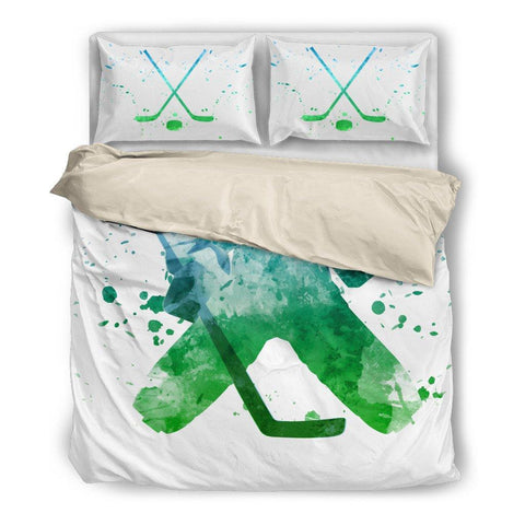 Hockey Watercolor (Black) Bedding