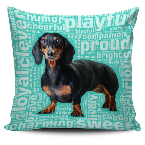 Blue Dachshund Pillowcase