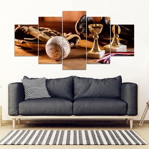 Baseball Wall Art (5 Panel Canvas)