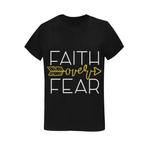 Faith Over Fear Women Classic T-shirt (USA Size) (Model T01)