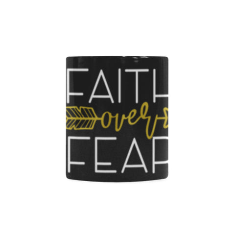 Faith Over Fear Mug Classical White Mug (11 OZ)