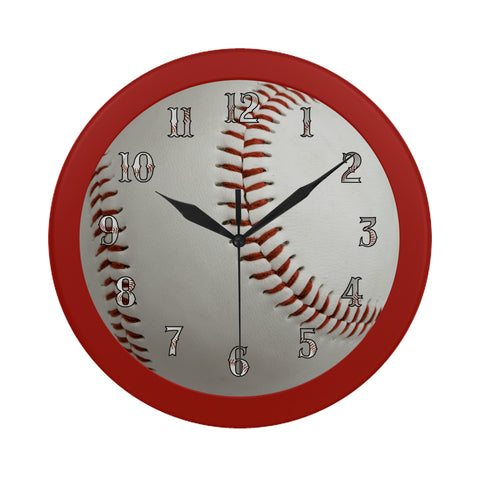 Baseball Clock (Red)
