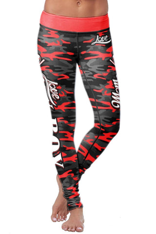 Baseball Mom Camo Leggings