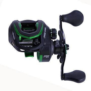 Image of Lews Fishing Mach Speed Spool Mcs Casting Reel 7.5:1 Gear Ratio, 11 Bearings, 10 Lb Max Drag, Left Hand