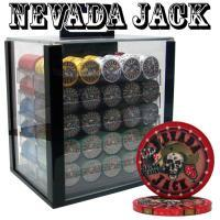 PRE-PACKAGED - 1000 CT NEVADA JACK 10G ACRYLIC CHIP SET