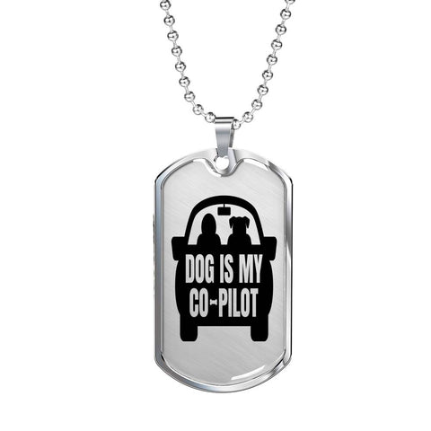 Dog Is My Co-Pilot Dog Tag