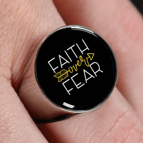 Faith Over Fear Ring