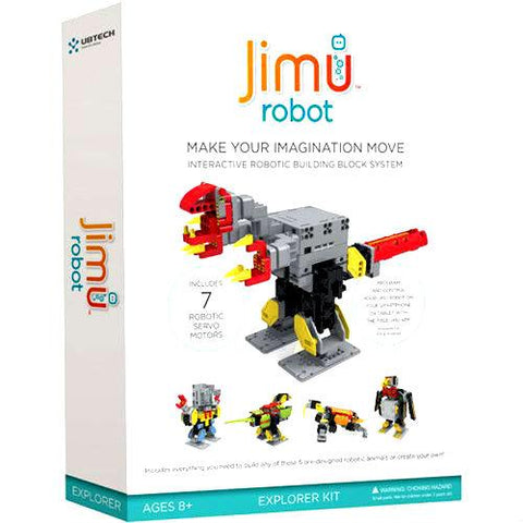 UBTECH ROBOT JR0702 JIMU EXPLORER KIT INTERACTIVE ROBOTIC BUILDING BLOCK SYSTEM RETAIL