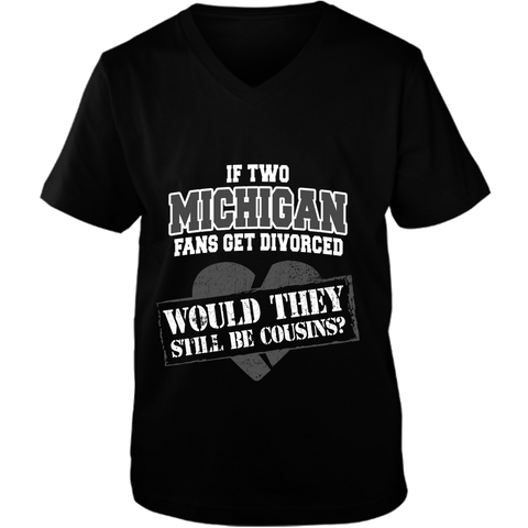 Michigan Unisex Vneck Tee