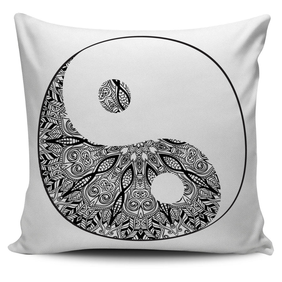 HAMSA HAND BLACK PILLOW COVERS