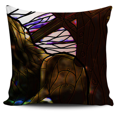 Falcon Stained Glass Design Pillow Covers