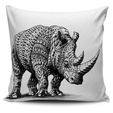 ORNATE RHINO PILLOW COVER