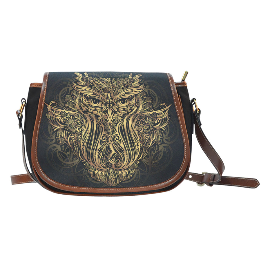 Golden Owl Saddle Bag