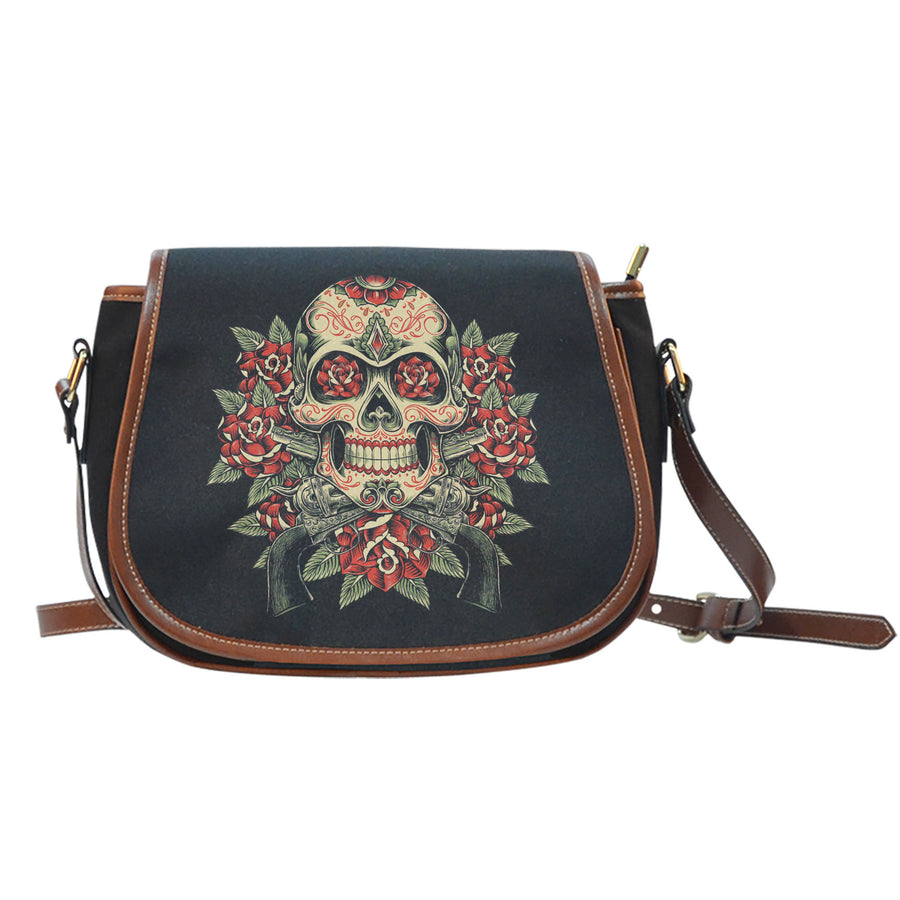 Skull And Roses - Saddle Bag