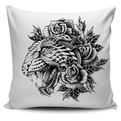 LION ORNATE ANIMAL PILLOW COVER