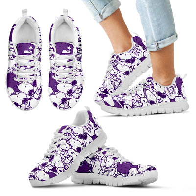 Snoopy Sneakers Dark Purple
