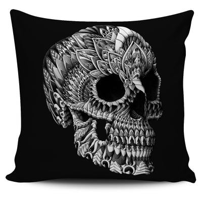 ORNATE SKULL ORNATE ANIMAL PILLOW COVER