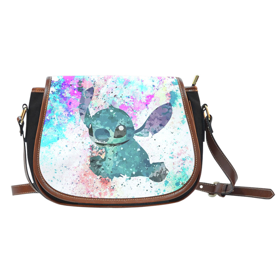 Lilo and Stitch Watercolor - Saddle Bag