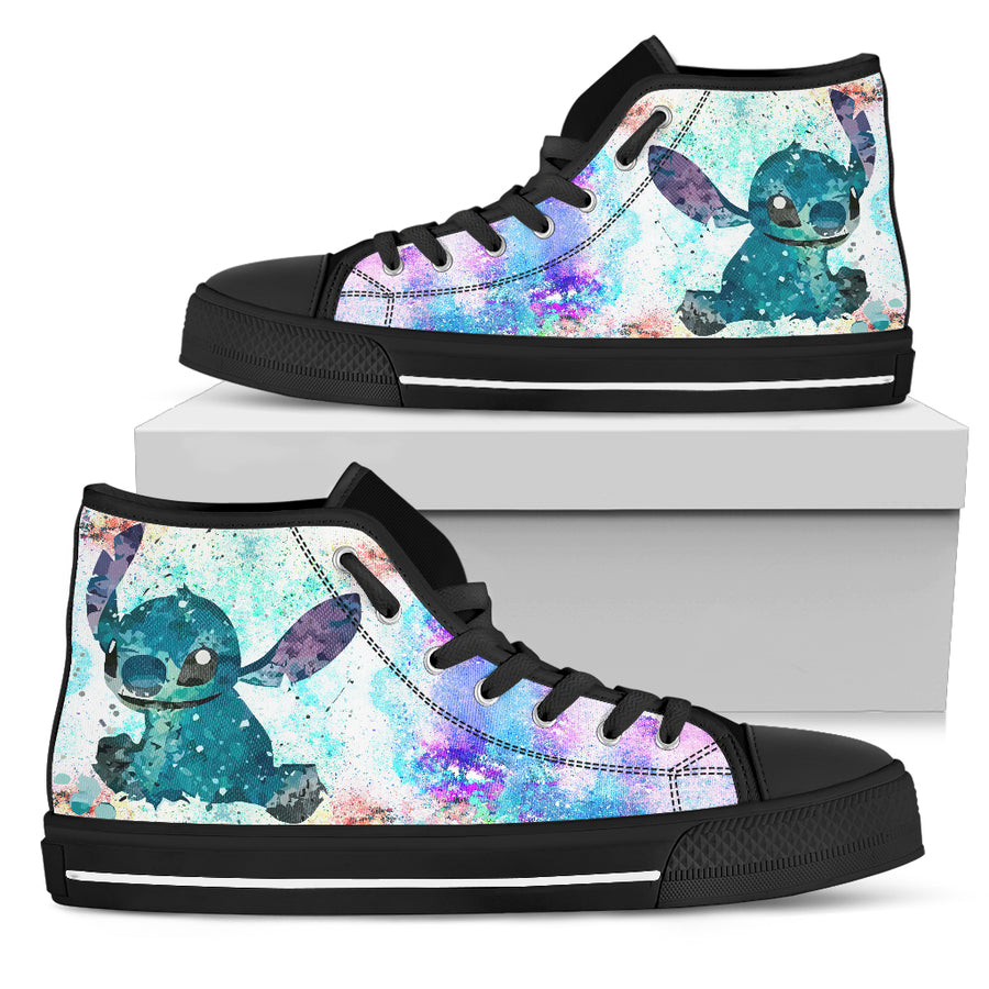 Lilo and Stitch Watercolor - High Tops