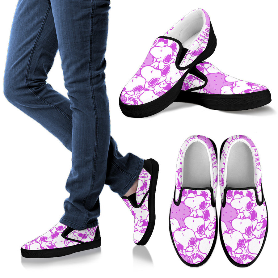 Snoopy Slip Ons Purple