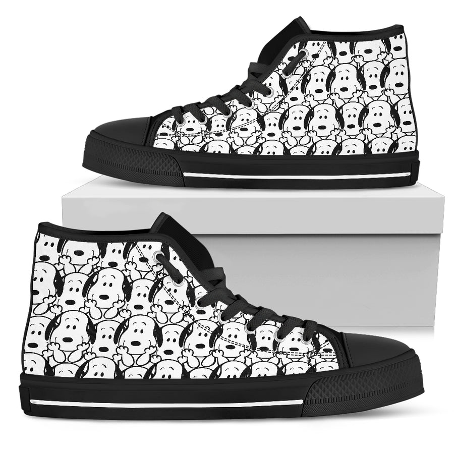 Snoopy Pattern - High Tops