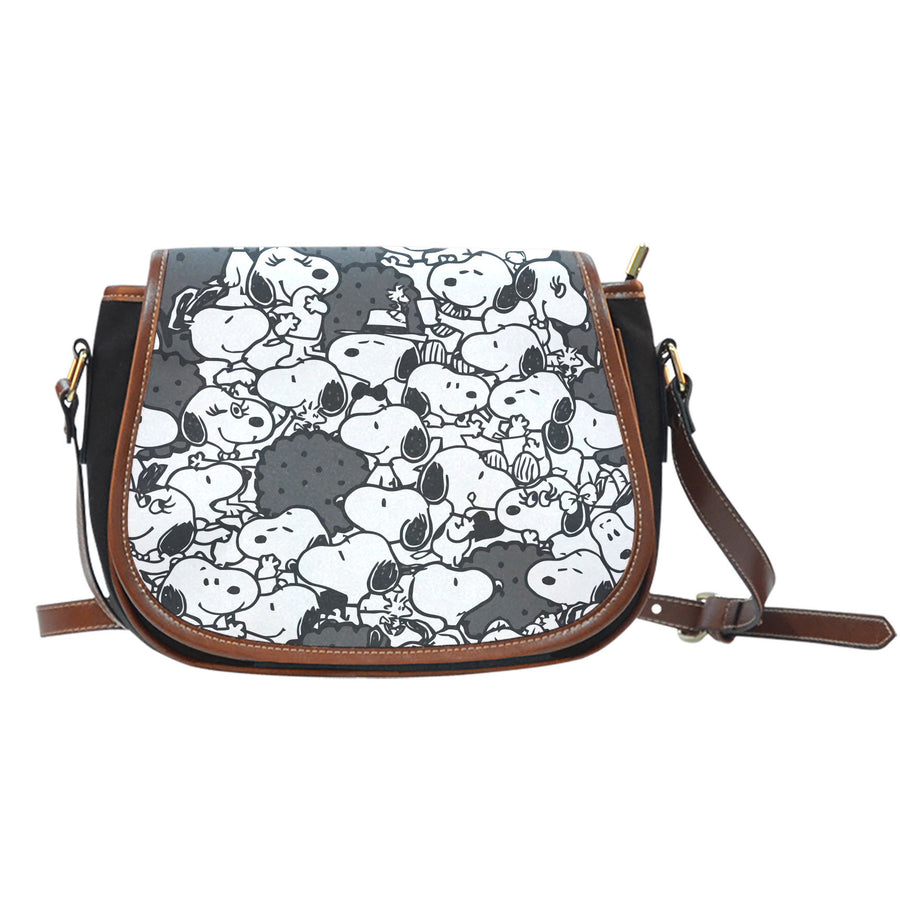 Snoopy Saddle Bag - Black