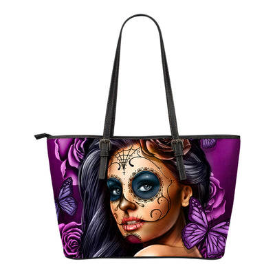 Calavera Tote Bag Purple
