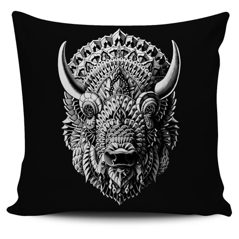 BISON ORNATE ANIMAL PILLOW COVER