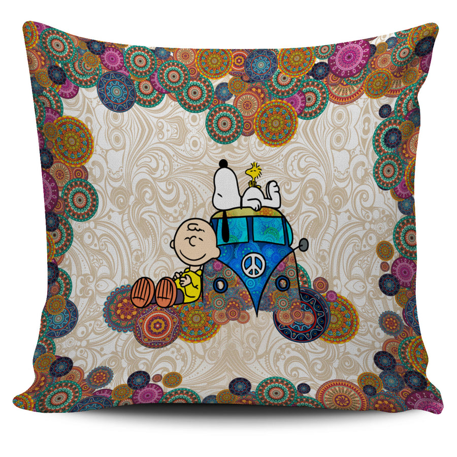 Snoopy on VW Bus - Pillow Covers