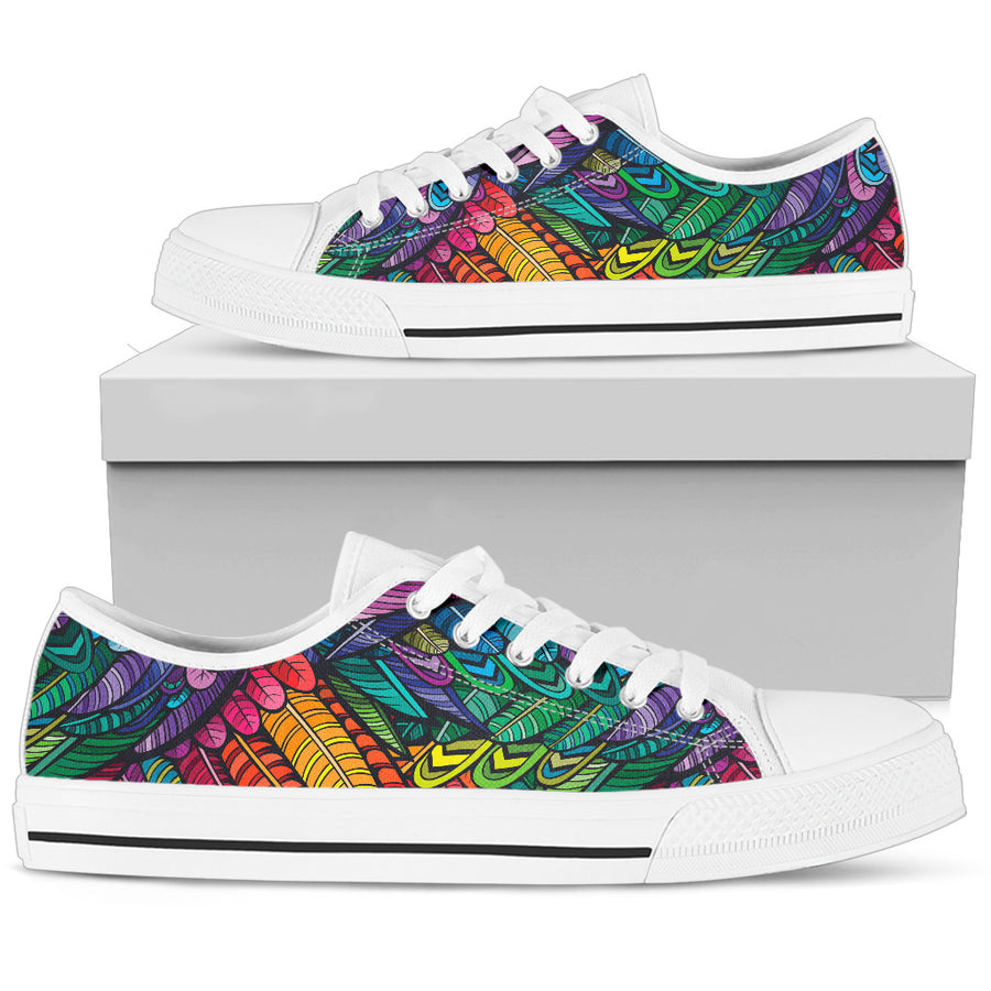Boho Feathers - Low Tops