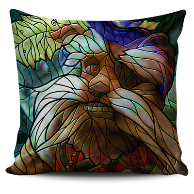 Labyrinth Stained Glass Design Pillow Covers