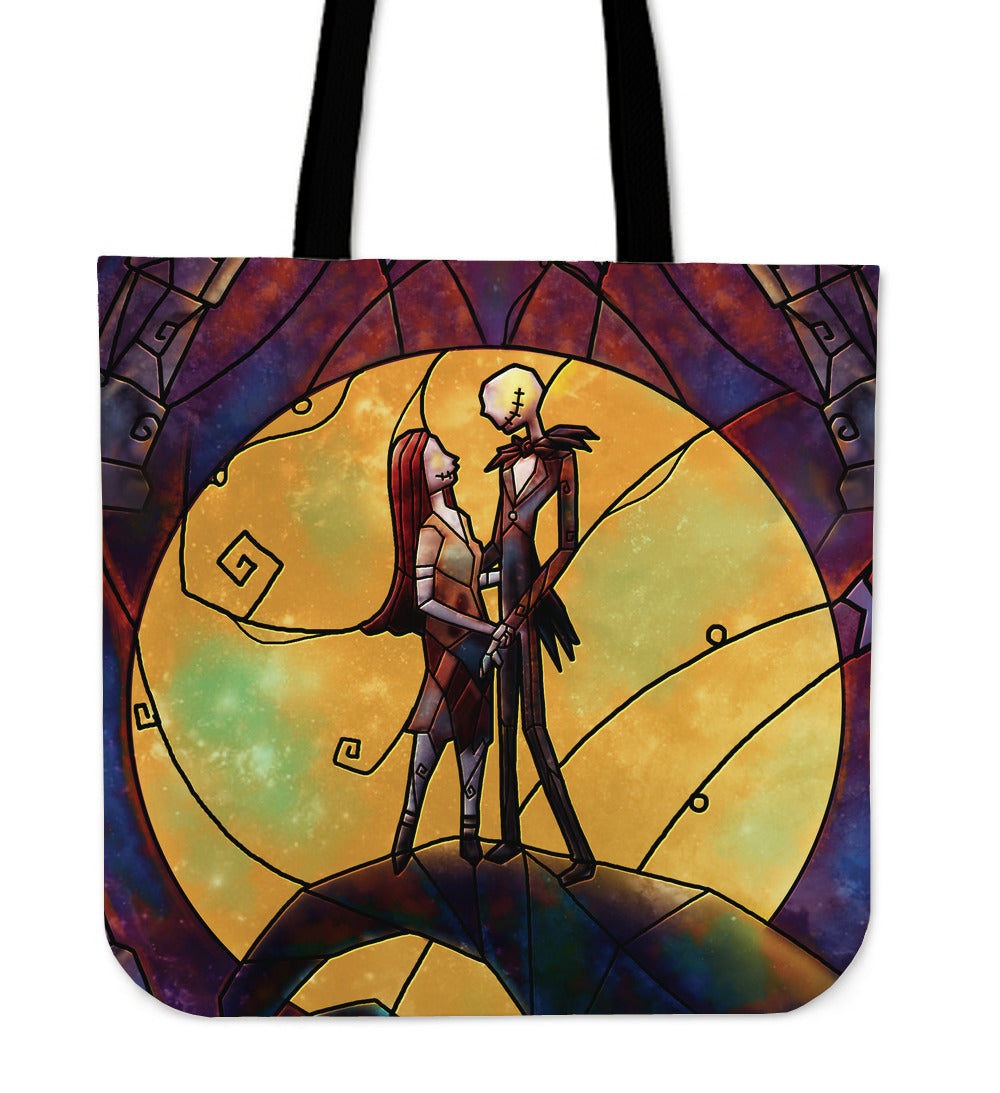Nightmare Before Christmas Jack and Sally Stained Glass Tote Bag ...