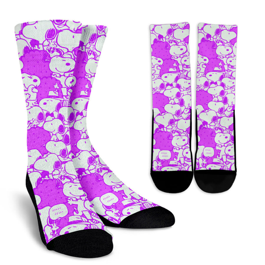 Snoopy Socks Purple
