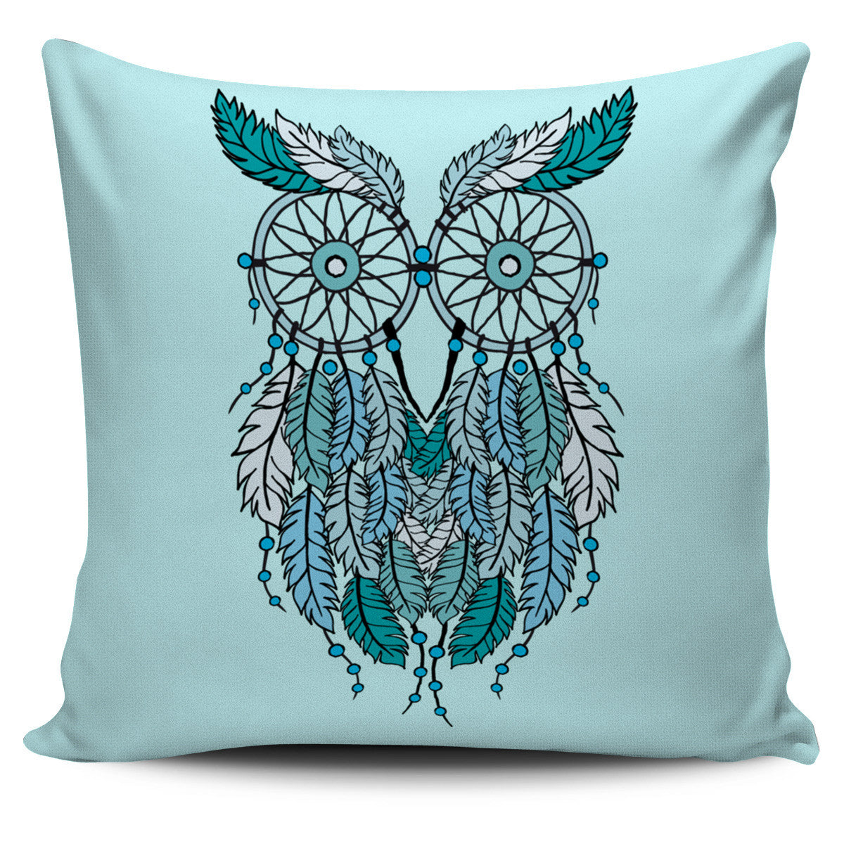 DREAM CATCHER OWL BLUE PILLOW COVERS
