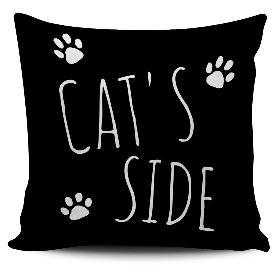 Cat's Side Black Pillow Cover