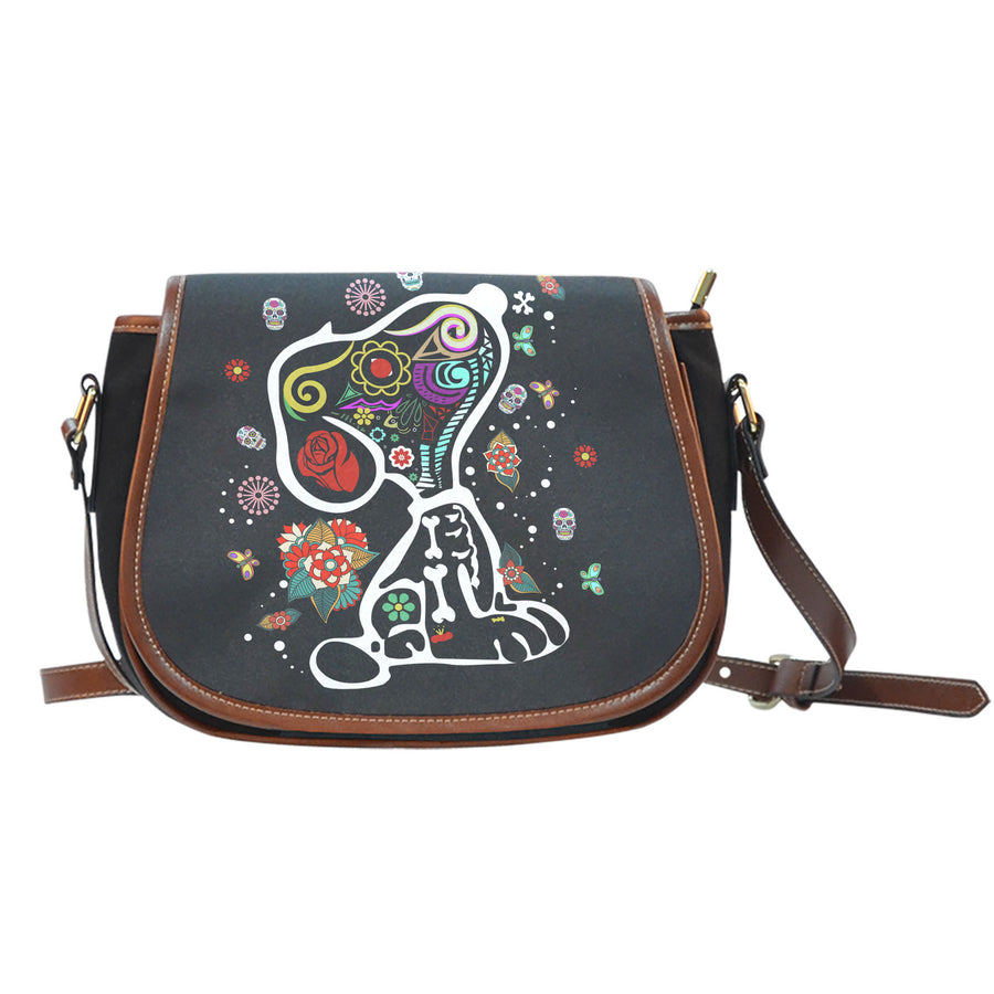 Colourful Snoopy Saddle Bag