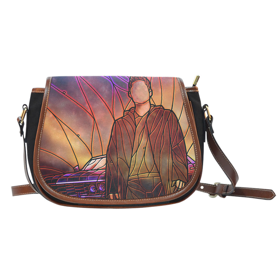 Dean Supernatural Stained Glass Saddle Bag